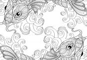 Koi Fish Coloring Page Koi Fish Coloring Page
