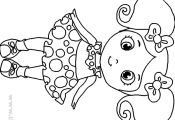 Little Girl Coloring Pages to Print Little Girl Coloring Pages to Print