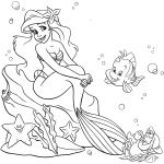 Little Mermaid Princess Coloring Page Little Mermaid Princess Coloring Page