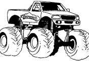 mud truck coloring pages for kids www.minimonstertr...   monster truck, children...