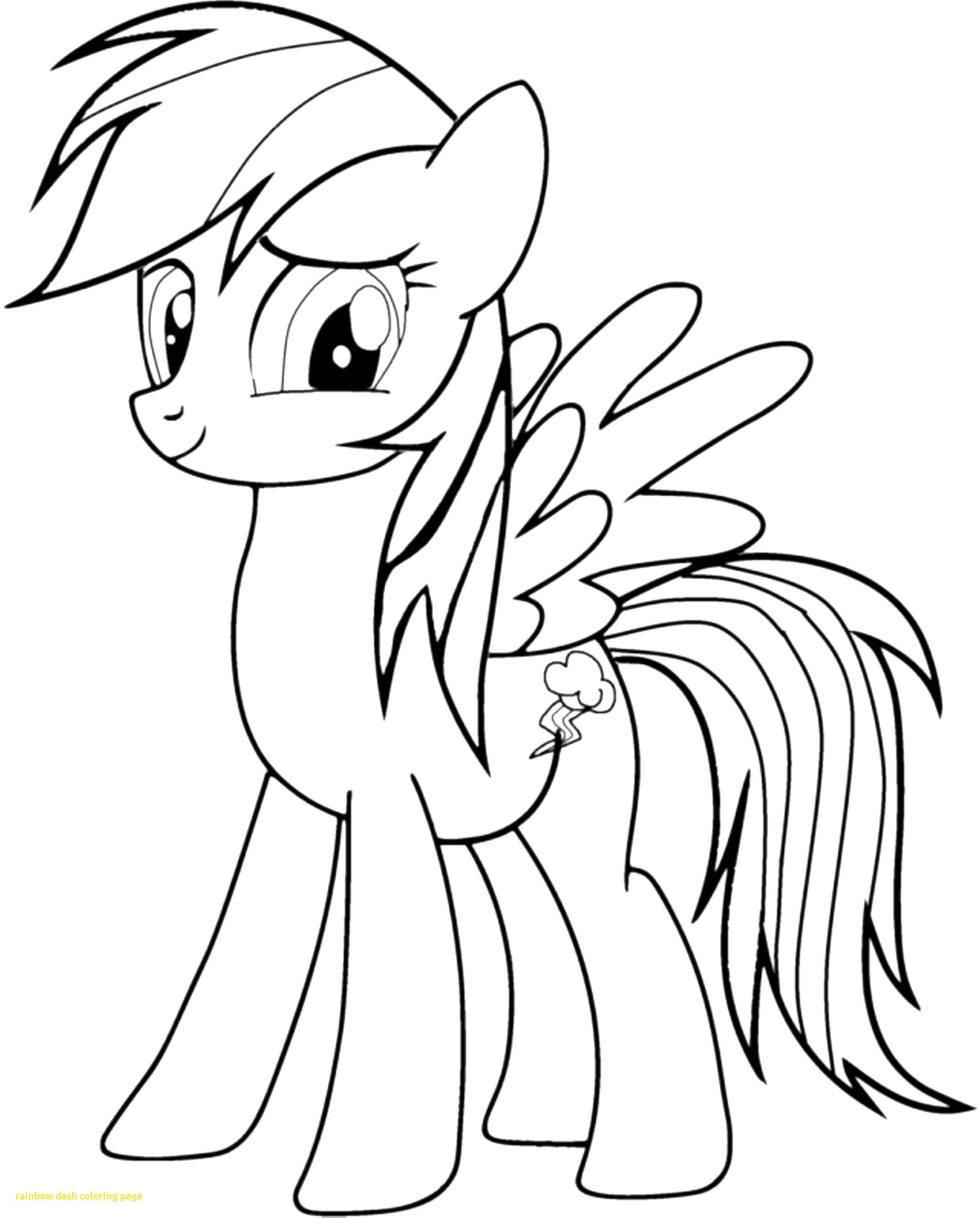 My Little Pony Coloring Pages Rainbow Dash - BubaKids.com