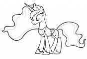 My Little Pony Coloring Princess Celestia My Little Pony Coloring Princess Celestia