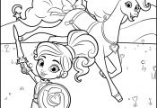 Nella Princess Knight Coloring Page Nella Princess Knight Coloring Page