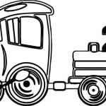 nice Fast Toy Train Coloring Page