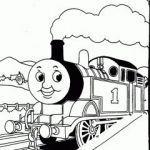 number 1 smiley train coloring pages for kids 2014