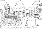 One Horse Open Sleigh Coloring Page One Horse Open Sleigh Coloring Page