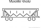 outlines of Train cars to help them draw