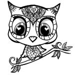 owl coloring pictures to print | Owl, : owl-cartoon-character-coloring-page.jpg