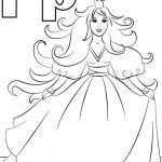 P is for Princess Coloring Page P is for Princess Coloring Page