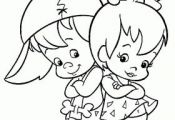 pebbels and bambam Cartoon Coloring Pages | Coloring Pages