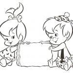 pebbels and bambam Cartoon Coloring Pages   Dibujos de Bam bam ♥