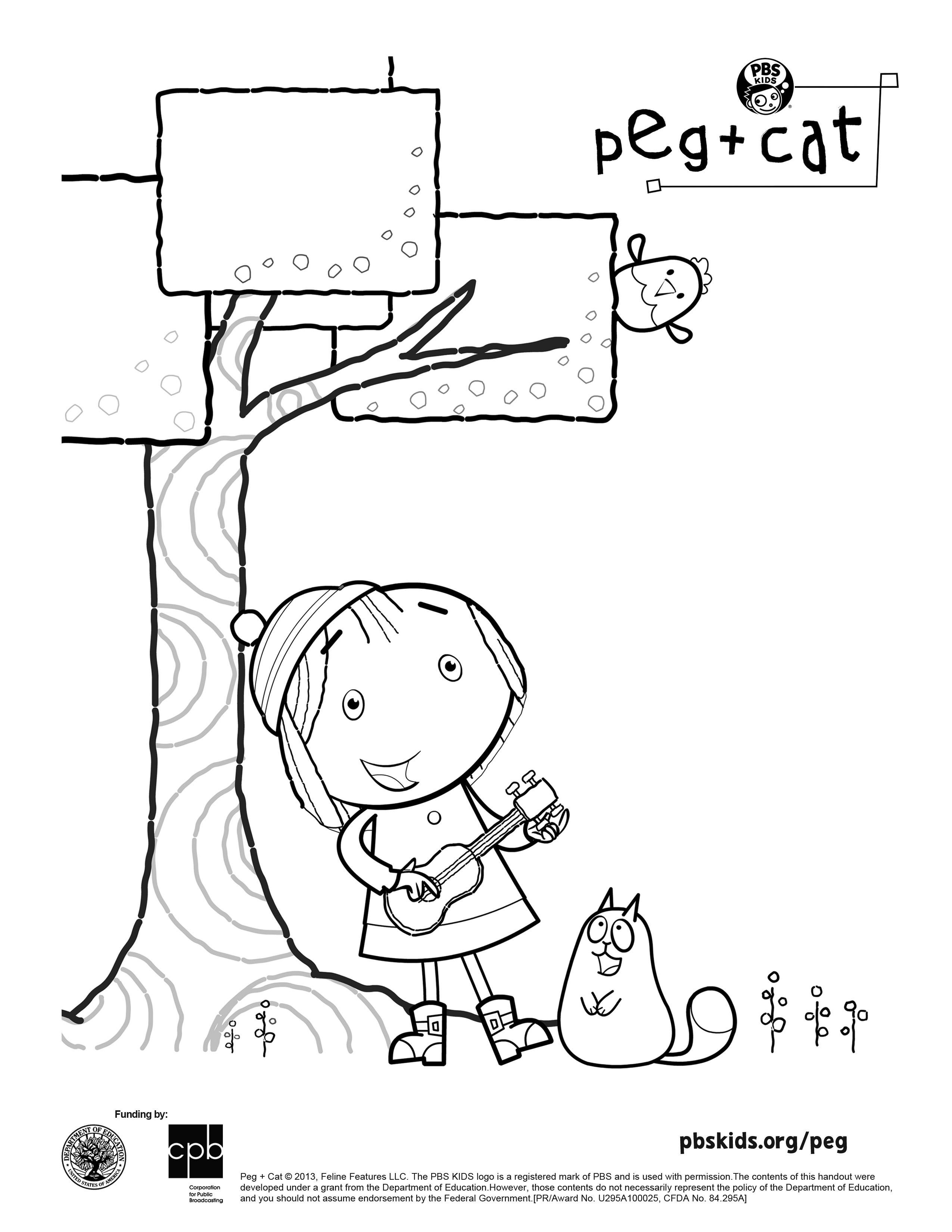 peg-and-cat-coloring-pages-of-peg-and-cat-coloring-pages Peg and Cat Coloring Pages Animal