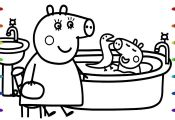 Peppa Pig Bath Coloring Book Peppa Pig Bath Coloring Book