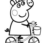 Peppa Pig Bicycle Coloring Page Peppa Pig Bicycle Coloring Page