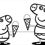 Peppa Pig Cake Coloring Pages Peppa Pig Cake Coloring Pages