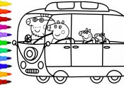 Peppa Pig Camper Van Coloring Pages Peppa Pig Camper Van Coloring Pages