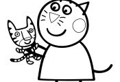 Peppa Pig Candy Cat Coloring Pages Peppa Pig Candy Cat Coloring Pages