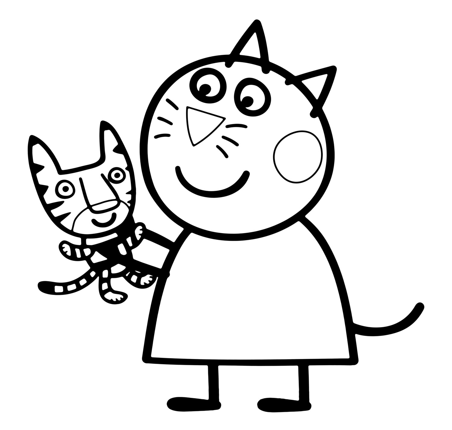 Peppa Pig Candy Cat Coloring Pages - BubaKids.com