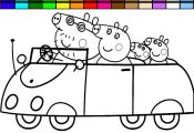 Peppa Pig Coloring Pages Car Peppa Pig Coloring Pages Car