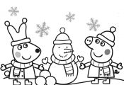 Peppa Pig Coloring Pages Christmas Peppa Pig Coloring Pages Christmas