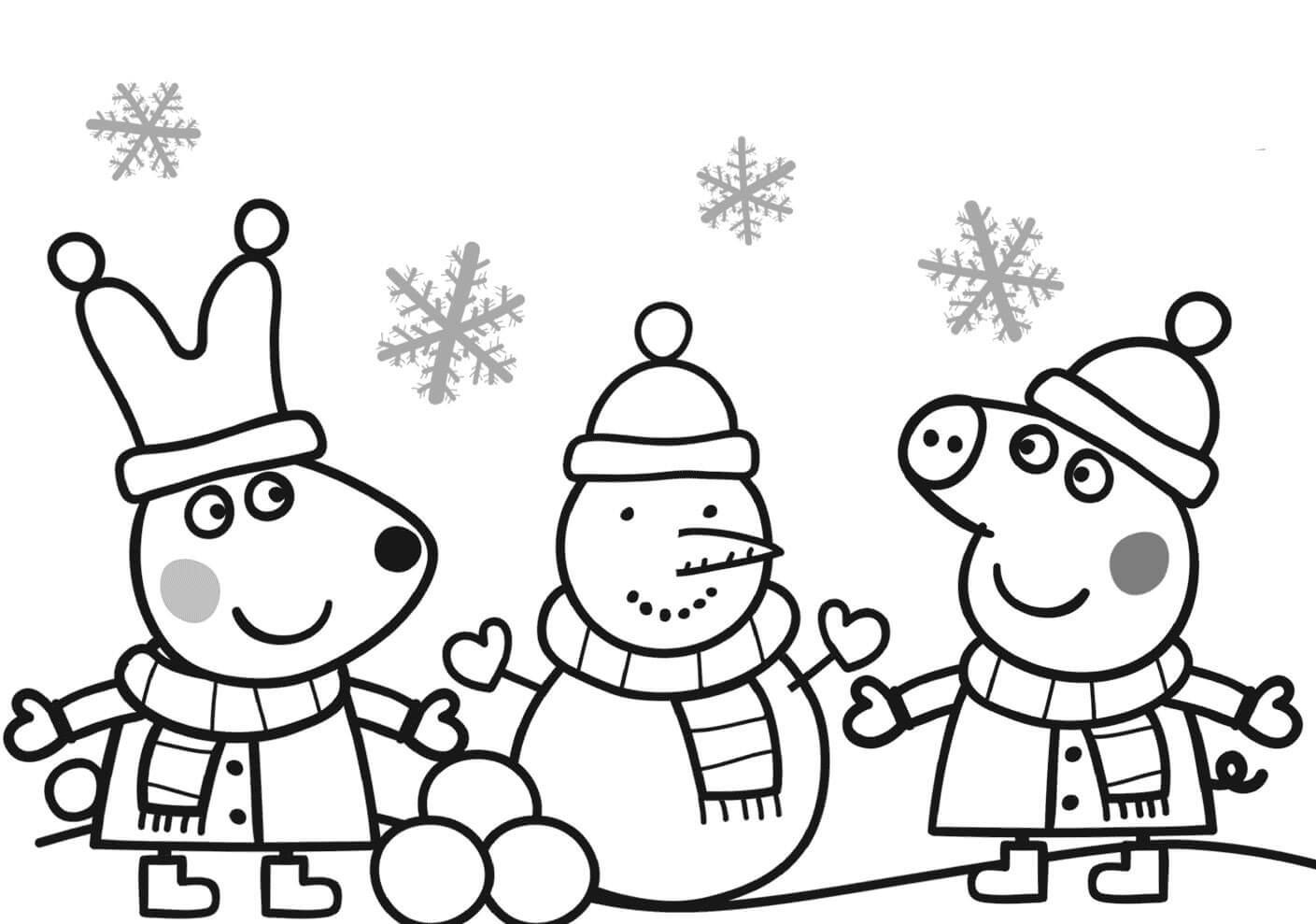 peppa-pig-coloring-pages-christmas-of-peppa-pig-coloring-pages-christmas Peppa Pig Coloring Pages Christmas Cartoon
