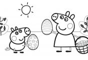 Peppa Pig Coloring Pages Easter Peppa Pig Coloring Pages Easter