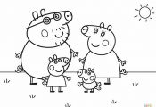 Peppa Pig Coloring Pages Family Peppa Pig Coloring Pages Family