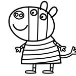 Peppa Pig Coloring Pages Zoe Zebra Peppa Pig Coloring Pages Zoe Zebra