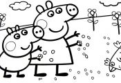 Peppa Pig Fall Coloring Pages Peppa Pig Fall Coloring Pages