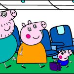 Peppa Pig Holiday Coloring Pages Peppa Pig Holiday Coloring Pages