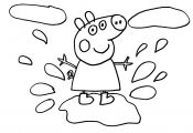 Peppa Pig Muddy Puddles Coloring Pages Peppa Pig Muddy Puddles Coloring Pages