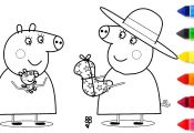 Peppa Pig Mummy Coloring Pages Peppa Pig Mummy Coloring Pages