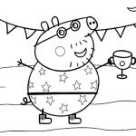 Peppa Pig Mummy Rabbit Coloring Pages Peppa Pig Mummy Rabbit Coloring Pages