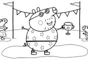 Peppa Pig Spring Coloring Page Peppa Pig Spring Coloring Page