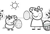 Peppa Pig Swimming Coloring Pages Peppa Pig Swimming Coloring Pages