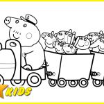 Peppa Pig Train Coloring Pages Peppa Pig Train Coloring Pages