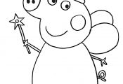 Peppa Pig Valentines Coloring Pages Peppa Pig Valentines Coloring Pages