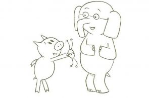 Piggie and Elephant Coloring Pages Piggie and Elephant Coloring Pages