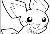 Pikachu and Pichu Coloring Page Pikachu and Pichu Coloring Page