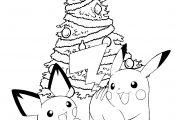 Pikachu Christmas Coloring Page Pikachu Christmas Coloring Page