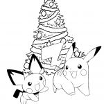 Pikachu Christmas Coloring Pages Pikachu Christmas Coloring Pages