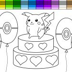 Pikachu Heart Coloring Page Pikachu Heart Coloring Page