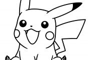 Pikachu Mask Coloring Pages Pikachu Mask Coloring Pages