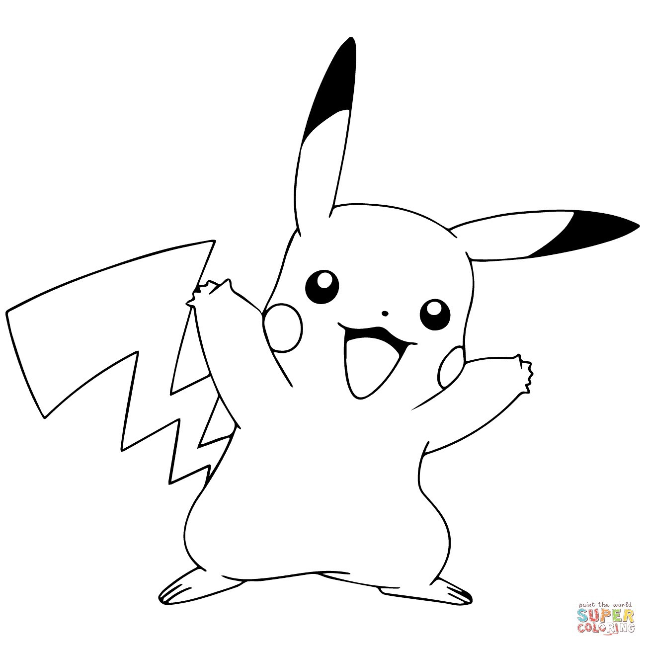 Pikachu Pokemon Go Coloring Pages - BubaKids.com
