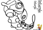 Pokemon Caterpie Coloring Pages Pokemon Caterpie Coloring Pages