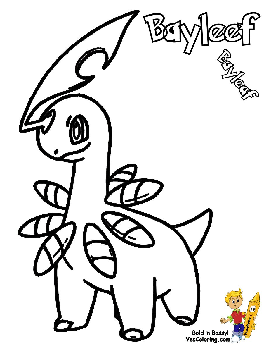 pokemon-chikorita-coloring-pages-of-pokemon-chikorita-coloring-pages Pokemon Chikorita Coloring Pages Cartoon
