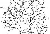 Pokemon Coloring Mew Pokemon Coloring Mew