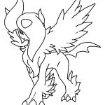 Pokemon Coloring Pages Absol Pokemon Coloring Pages Absol