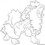 Pokemon Coloring Pages Arcanine Pokemon Coloring Pages Arcanine