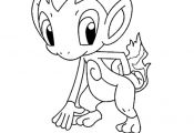 Pokemon Coloring Pages Chimchar Pokemon Coloring Pages Chimchar